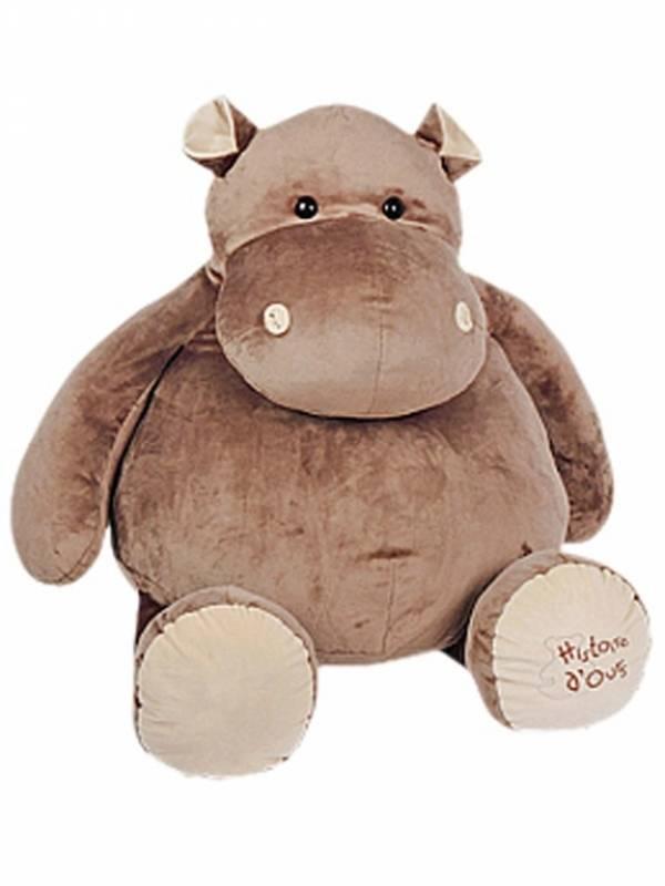histoire d ours peluche hippopotame 120 cm. Black Bedroom Furniture Sets. Home Design Ideas