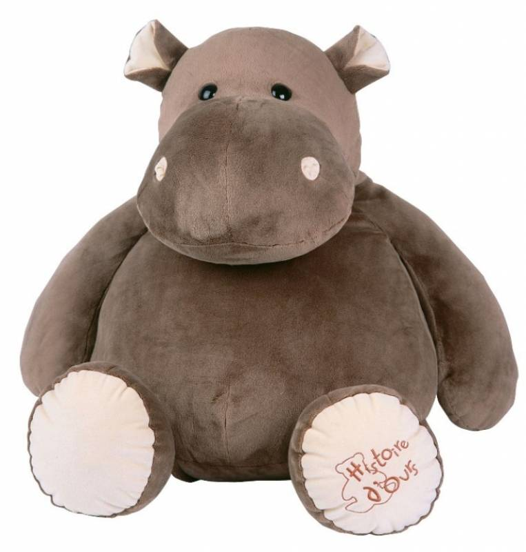histoire d ours peluche hippopotame 60 cm. Black Bedroom Furniture Sets. Home Design Ideas