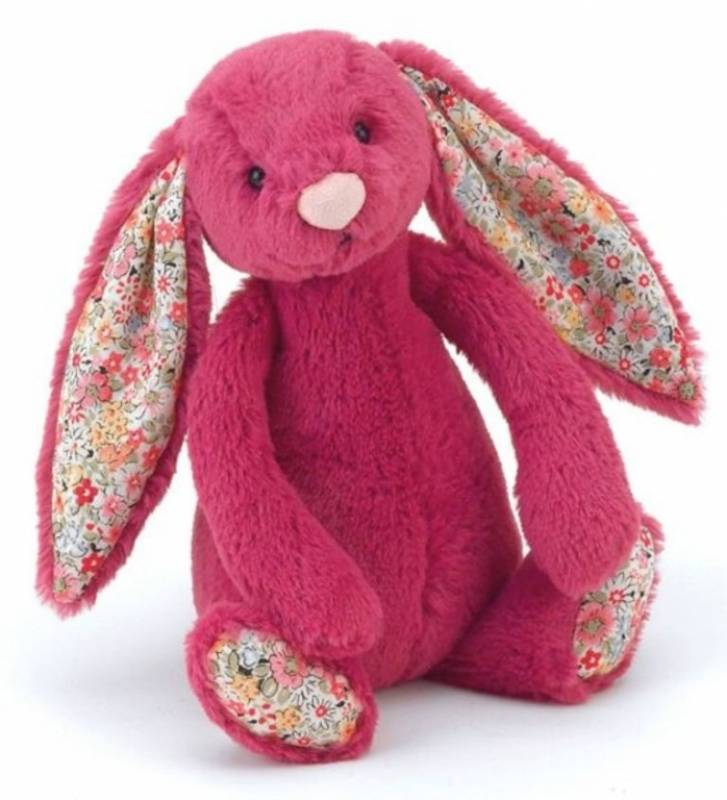 jellycat peluche lapin rose blossom 18 cm. Black Bedroom Furniture Sets. Home Design Ideas