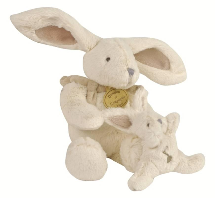 doudou et compagnie peluche musicale lapin bonbon taupe. Black Bedroom Furniture Sets. Home Design Ideas