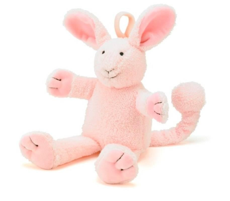jellycat peluche musicale lapin juniorjack rose. Black Bedroom Furniture Sets. Home Design Ideas