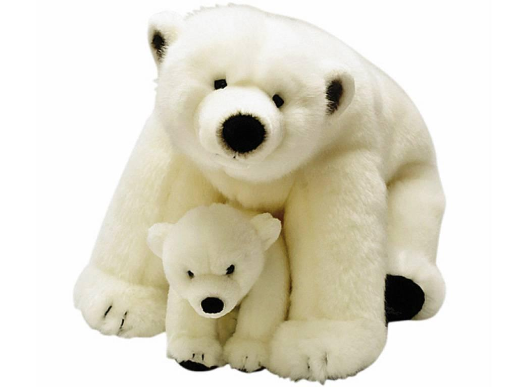 national geographic peluche ours polaire avec b b. Black Bedroom Furniture Sets. Home Design Ideas
