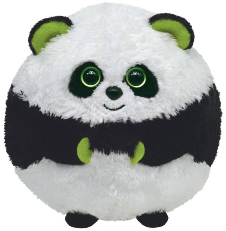 Ty - Peluchette boule panda bonsai beanie ballz 10 cm