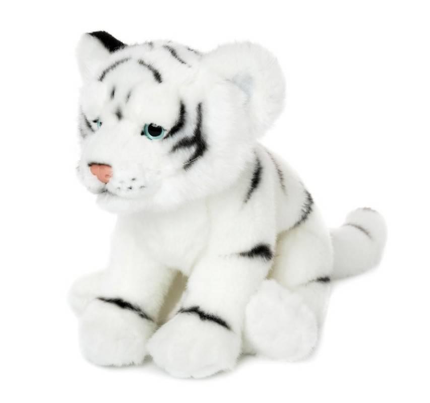 peluche bebe tigre blanc