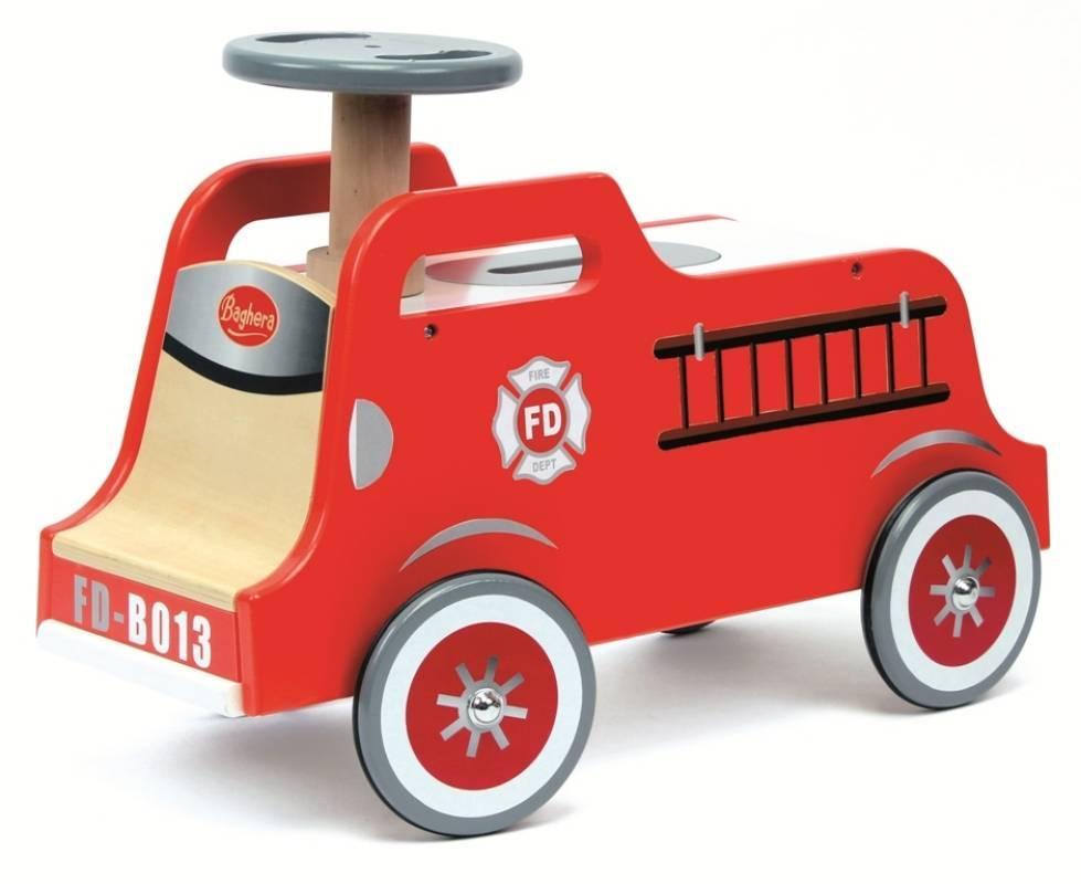 baghera porteur bois camion de pompier doudouplanet. Black Bedroom Furniture Sets. Home Design Ideas