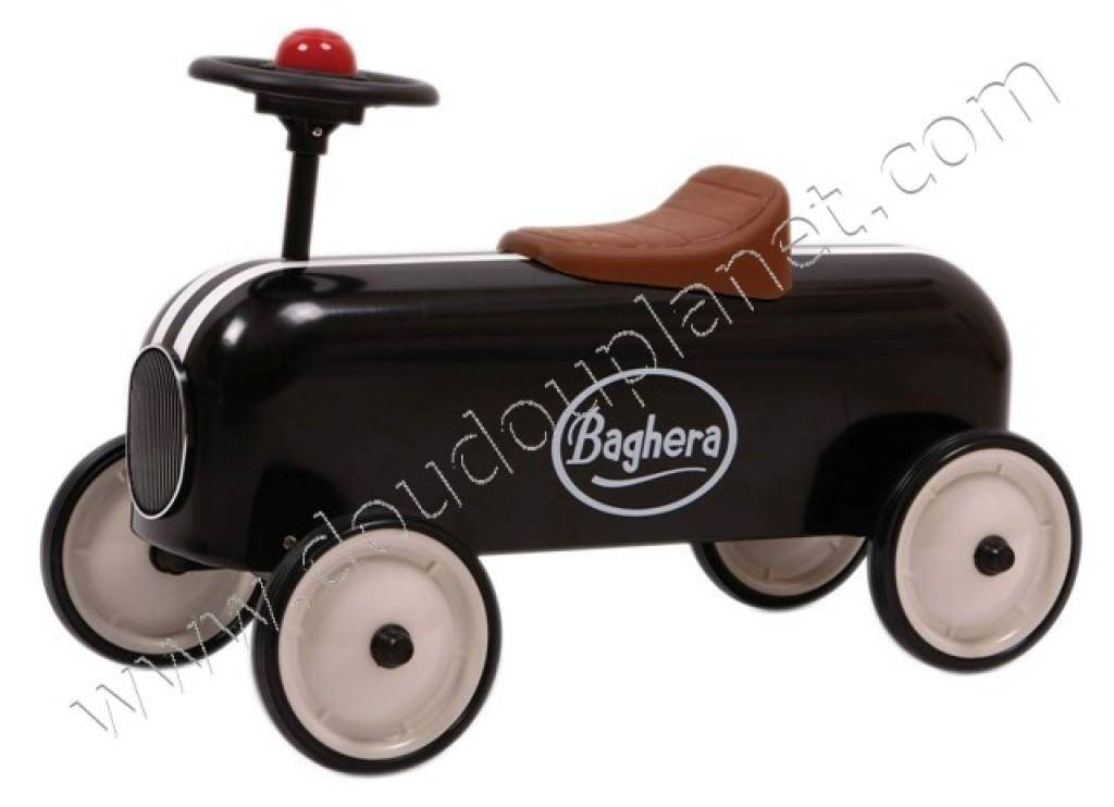baghera porteur racer noir doudouplanet. Black Bedroom Furniture Sets. Home Design Ideas