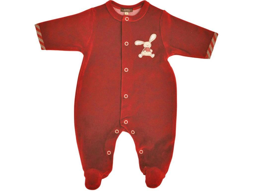 B b chocolat pyjama cerise 6 mois doudouplanet for Plante 6 mois