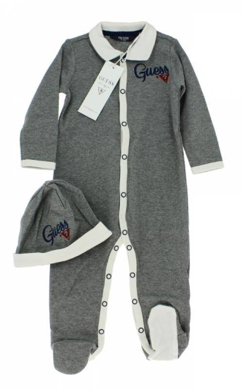guess enfant pyjama et bonnet gris gar on. Black Bedroom Furniture Sets. Home Design Ideas