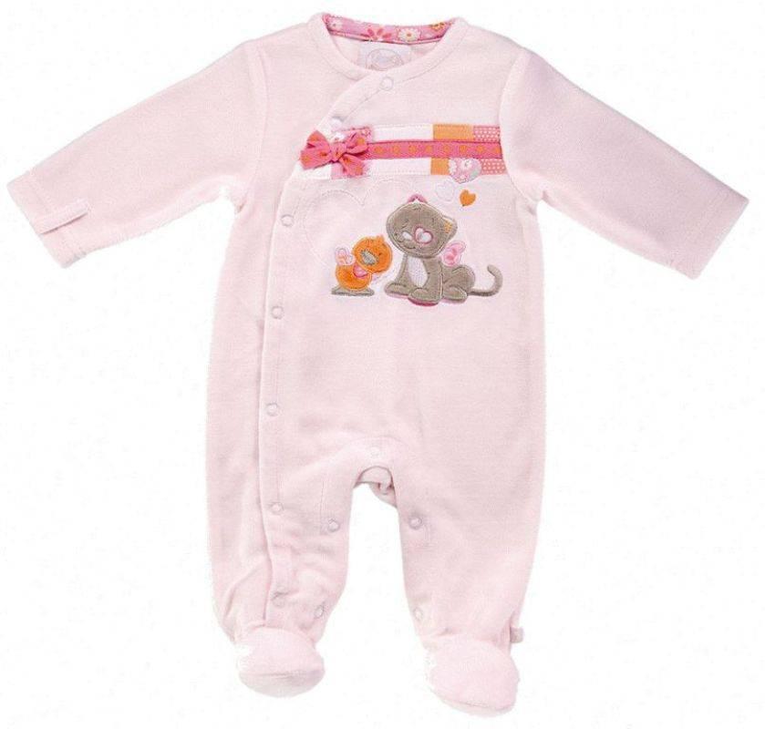 Noukies - Pyjama velours rose iris et babette naissance 0953b95e78d