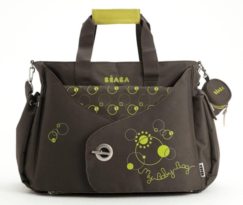 beaba sac langer my baby bag marron vert anis. Black Bedroom Furniture Sets. Home Design Ideas