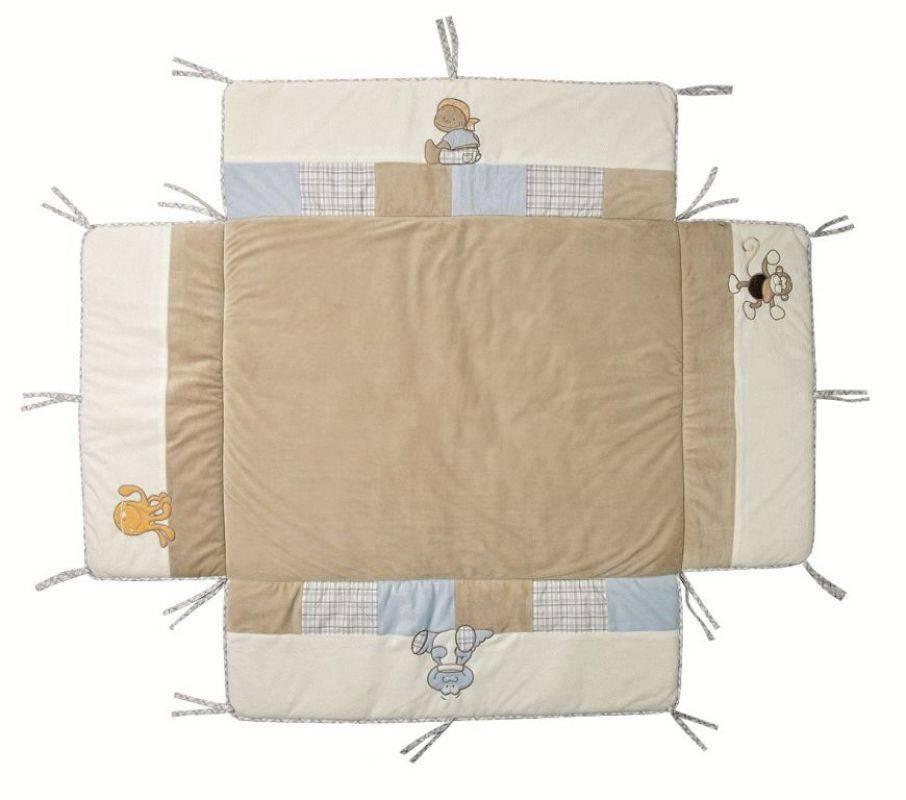 noukies tapis de parc avec bord bill et bono 100x100 cm. Black Bedroom Furniture Sets. Home Design Ideas
