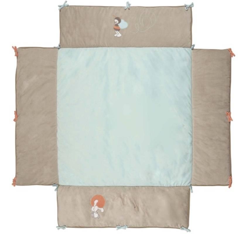 nattou tapis de parc avec bord bubbles 100x100 cm. Black Bedroom Furniture Sets. Home Design Ideas