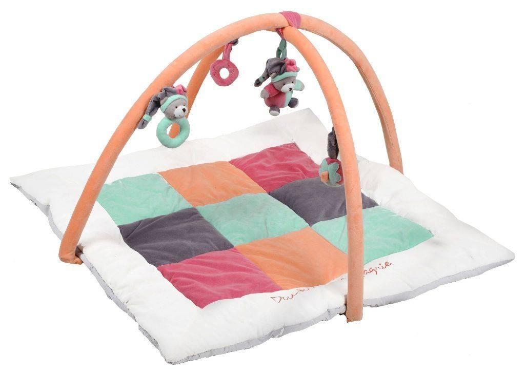 doudou et compagnie tapis eveil mosaique p che fraise. Black Bedroom Furniture Sets. Home Design Ideas