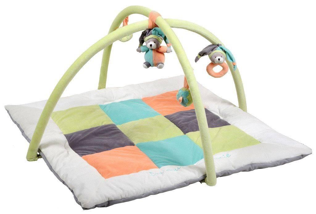 doudou et compagnie tapis eveil mosaique p che menthe. Black Bedroom Furniture Sets. Home Design Ideas