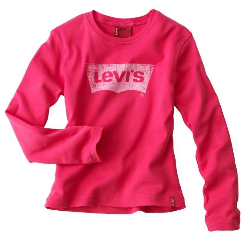 revendeur b04b6 6d3dc Levis - Tee-shirt sidney manches longues framboise 4 ans