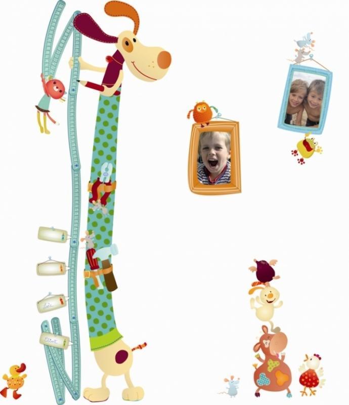Lilliputiens toise autocollante jef doudouplanet for Toise chambre bebe