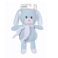 Gipsy Peluche Lapin Noeud Bleu écharpe Blanche - 26 cm