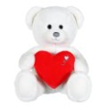 Gipsy Peluche Ours Blanc Coeur - 22 cm