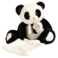 Babynat Peluche Panda Noir et Blanc avec mouchoir