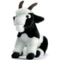 Anima Peluche Chèvre Noire et Blanche 26 cm