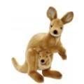 Hansa Peluche Wallaby avec Bébé 35 cm