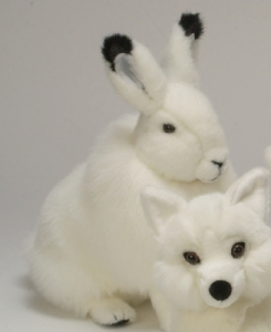 Peluche Lapin Blanc Debout - 30 cm