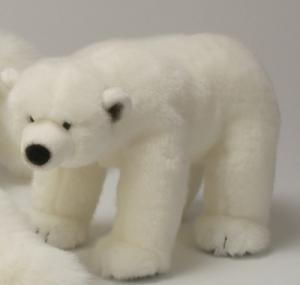 Peluche Ours Blanc Debout - 40 cm
