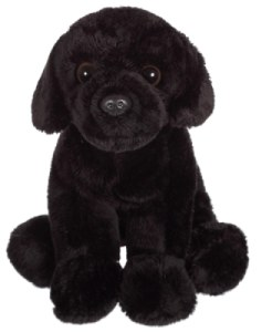 Peluche Chien Labrador Noir Floppipup - 22 cm