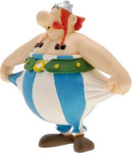 Figurine Obélix tenant son Pantalon