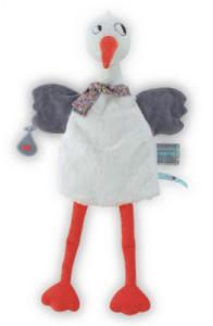 Doudou Marionnette Cigogne Dandy Nopnop