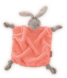 Doudou Lapin Orange Fluo - 20 cm