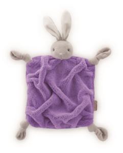 Doudou Lapin Violet Fluo - 20 cm