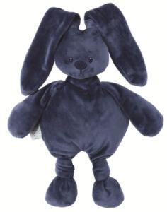 Peluche Lapin Lapidou Bleu Marine - 30 cm