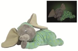 Peluche Couchée Eléphant Dumbo Lumineux - 30 cm