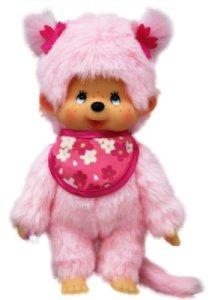 Peluche Monchhichi Pink Sakura Girl - 20 cm