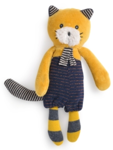 Peluche Chat Moutarde Lulu Les Moustaches - 18 cm