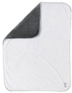 Couverture Supersoft Anthracite et Blanc Lapidou - 75x100 cm