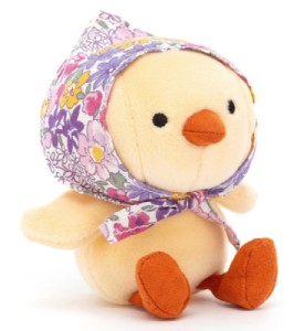 Peluche Mini Poussin Betty Jaune - 11 cm
