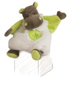 Doudou Hippopotame Bazile - 27 cm