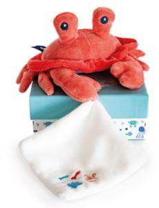 Peluche Crabe Corail et Doudou Sous l'Océan