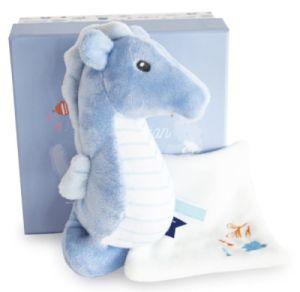 Peluche Hippocampe Bleu et Doudou Sous l'Océan