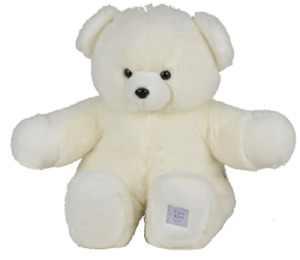 Peluche Ours Blanc Collection Prestige - 80 cm