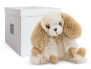 Peluche Chien Ecru Softy - 25 cm