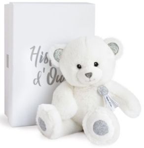 Peluche Ours Blanc Charms 24 cm