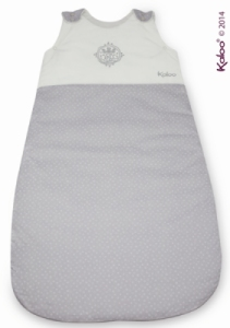 Gigoteuse Ajustable Blanche Grise Perle - 80/90 cm
