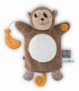 Doudou Marionnette Singe Banana Nopnop