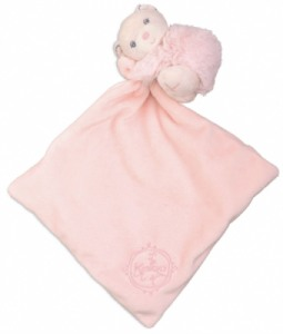 Doudou Ours Calin Rose Perle