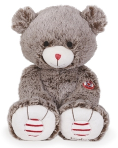 Peluche Medium Ours Cacao - Rouge