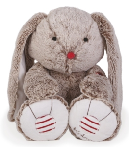 Peluche Large Lapin Sable - Rouge