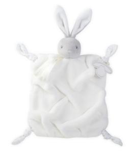 Doudou Lapin Crème Plume - 20 cm